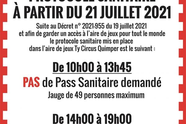 PROTOCOLE SANITAIRE DU 21 JUILLET 2021