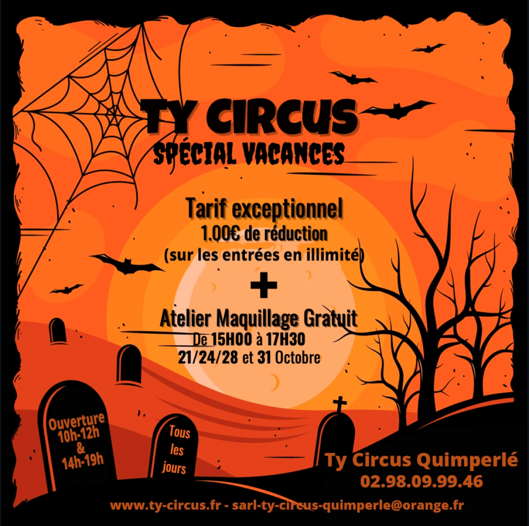 Ty Circus Quimperlé fête HALLOWEEN