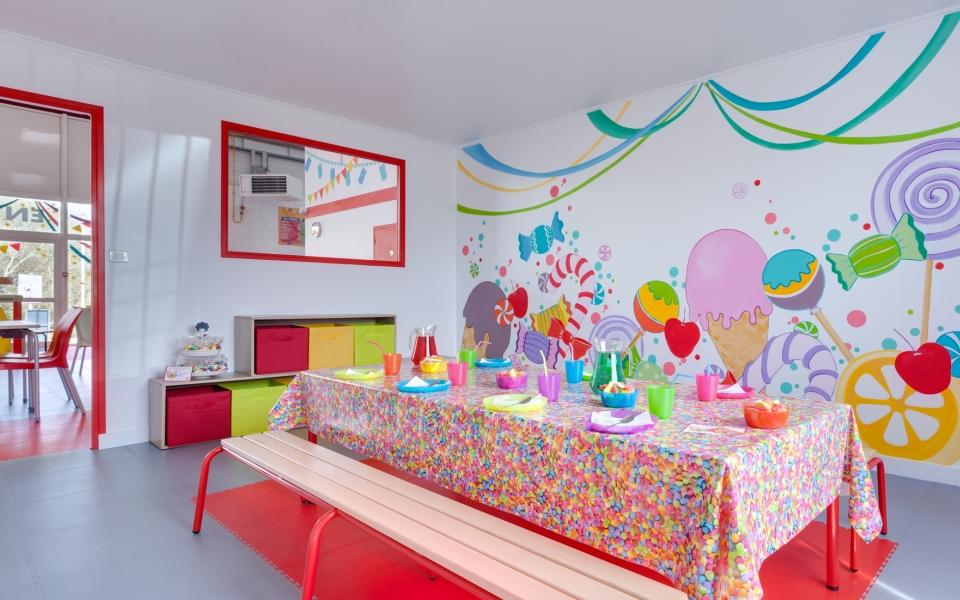une des salles d'anniversaires.
